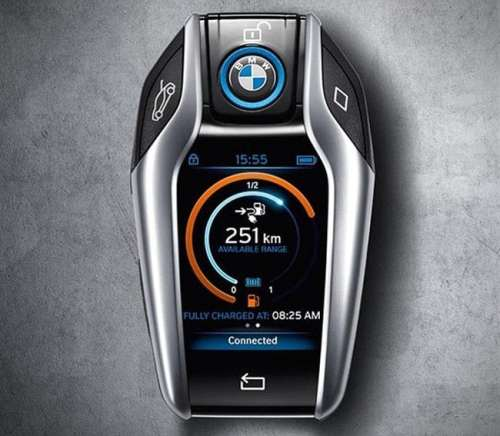 BMW i8s Key FOB Comes with LCD Information Screen   bmw i8 key FOB 500x436