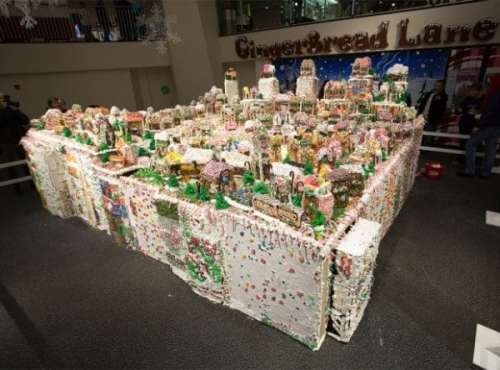 MEGATech Showcase: Last Minute Christmas Ideas   worlds largest gingerbread house 620x459 600x444 500x370