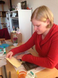 Anje und das Punchboard