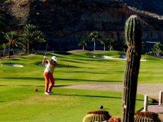 1. Abschlag auf dem Anfi Tauro Golfplatz