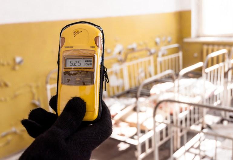 Geiger Counter in hands
