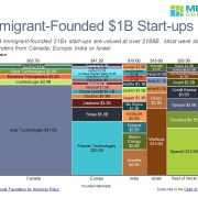 Startup Value by Country and Company Shown in a Marimekko Chart