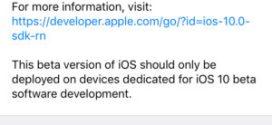 Apple rilascia iOS 10 beta 6 agli sviluppatori [link download]