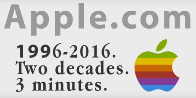Il sito Apple compie 20 anni, vediamo la sua evoluzione in un video