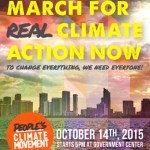 People's Climate March 2015 in Downtown Miami