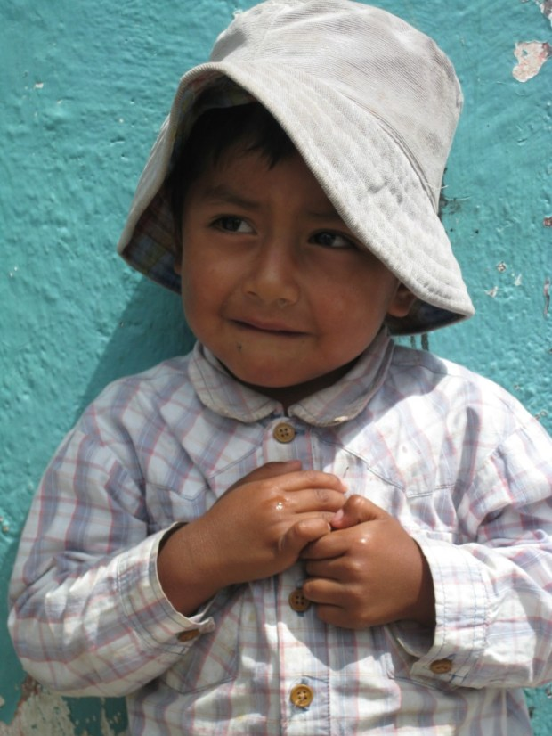 The precious children of this country.  This little boy is from Paute, Ecuador.  We met his dad, selling cotton candy, on the street.