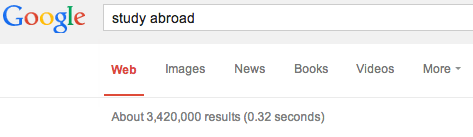 """Google search results for """"study abroad fair."""""""