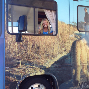 Ashley driving the RV on the start of this year's 1st Roadshow through MO, IL, & IA (USA)
