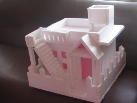 Thermocol House With Flat Roof Model 3 Craft Works