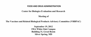 Meeting notes of FDA