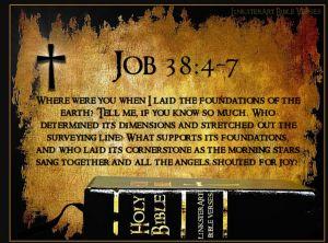 Job 38 and the bible