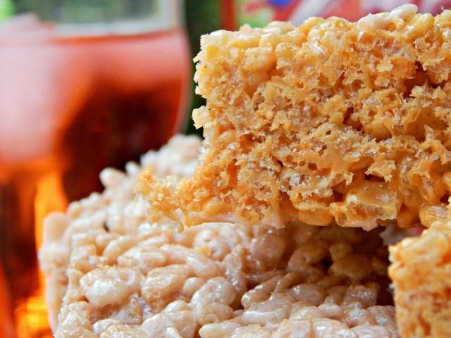 Orange Cream Rice Cereal Bar Treats #KoolOff #Cbias #shop