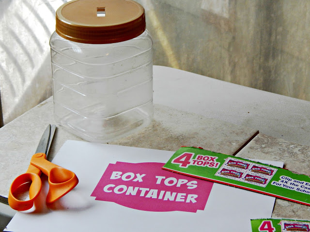 How to create a Box Tops Holder for the New School Year #Boxtops4school #ad