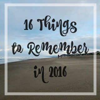16 Things to Remember in 2016