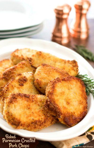 Baked Parmesan Crusted Pork Chops - melissassouthernstylekitchen.com