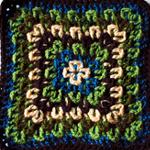 Crochet Fireworks Surprise Square