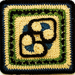 Crochet Heart to Heart Afghan Block Square