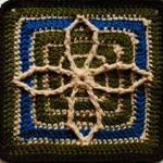 Crochet Scrap Afghan Square