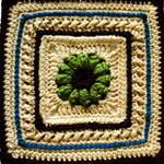 Crochet Shore Cables Square