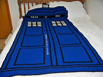 Crochet Gifts for Men - Police Box Afghan