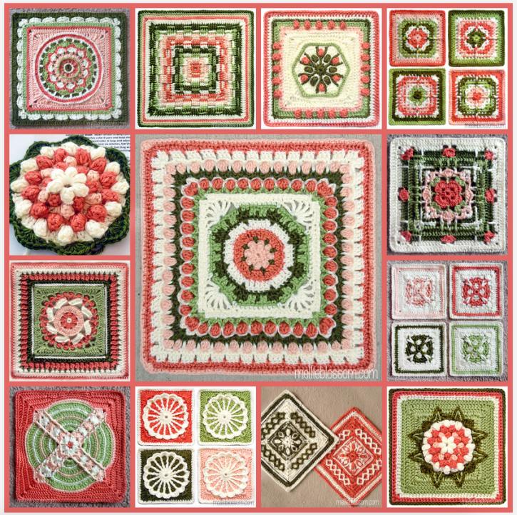 Crochet Along Blanket - finished squares - mellieblossom.com