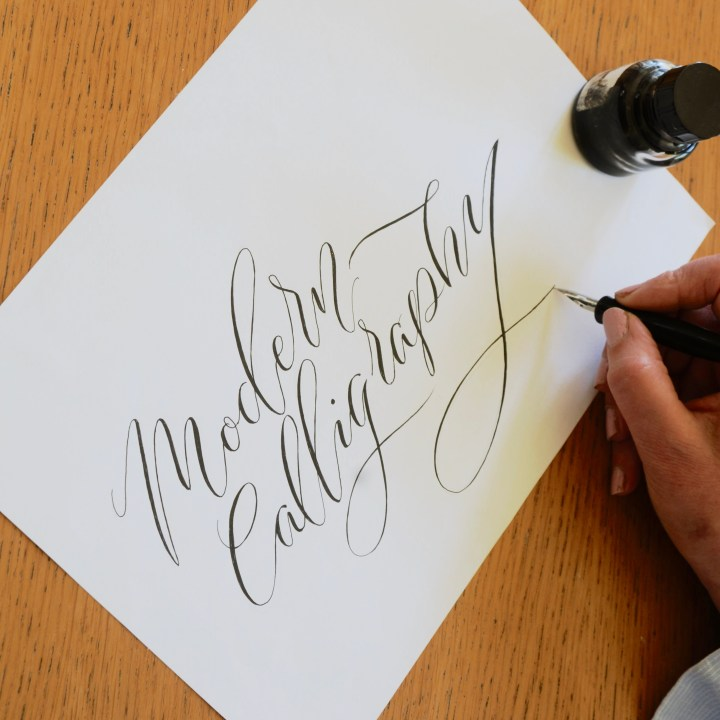 Modern Calligraphy workshop with Mellor and Rose in Lancashire, Yorkshire and Merseyside