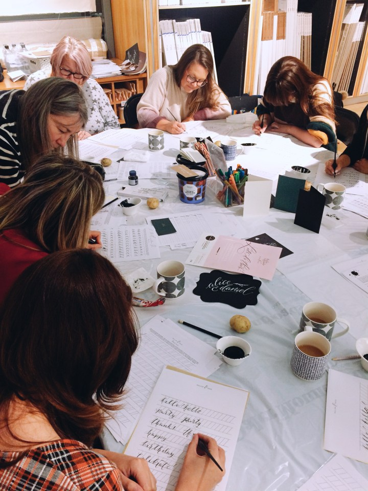 Beginners Modern Calligraphy workshop with Mellor and Rose at CASS Art Liverpool
