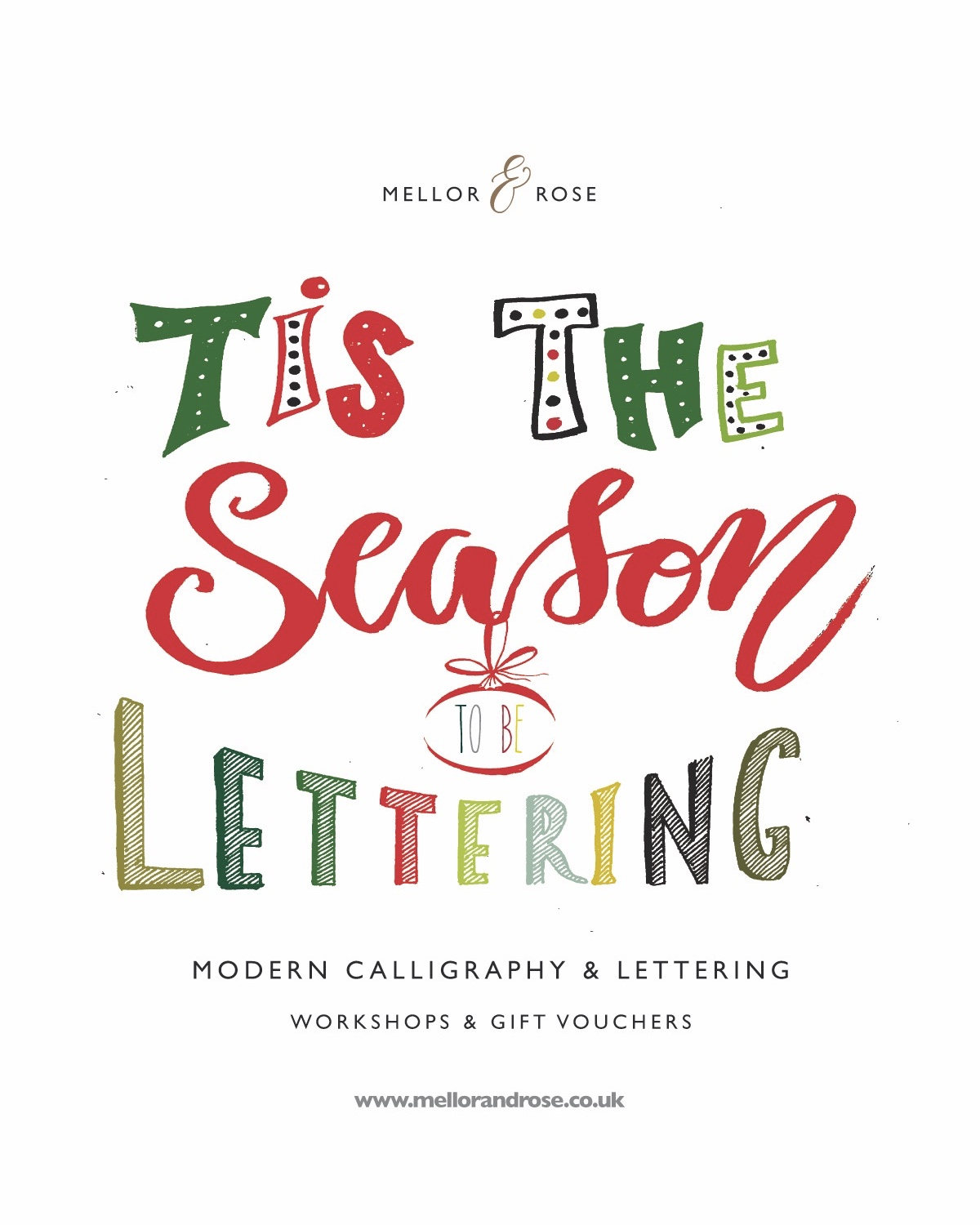 Christmas Calligraphy workshop with Mellor and Rose / Mellor & Rose // Lancashire, Yorkshire, Liverpool & Manchester