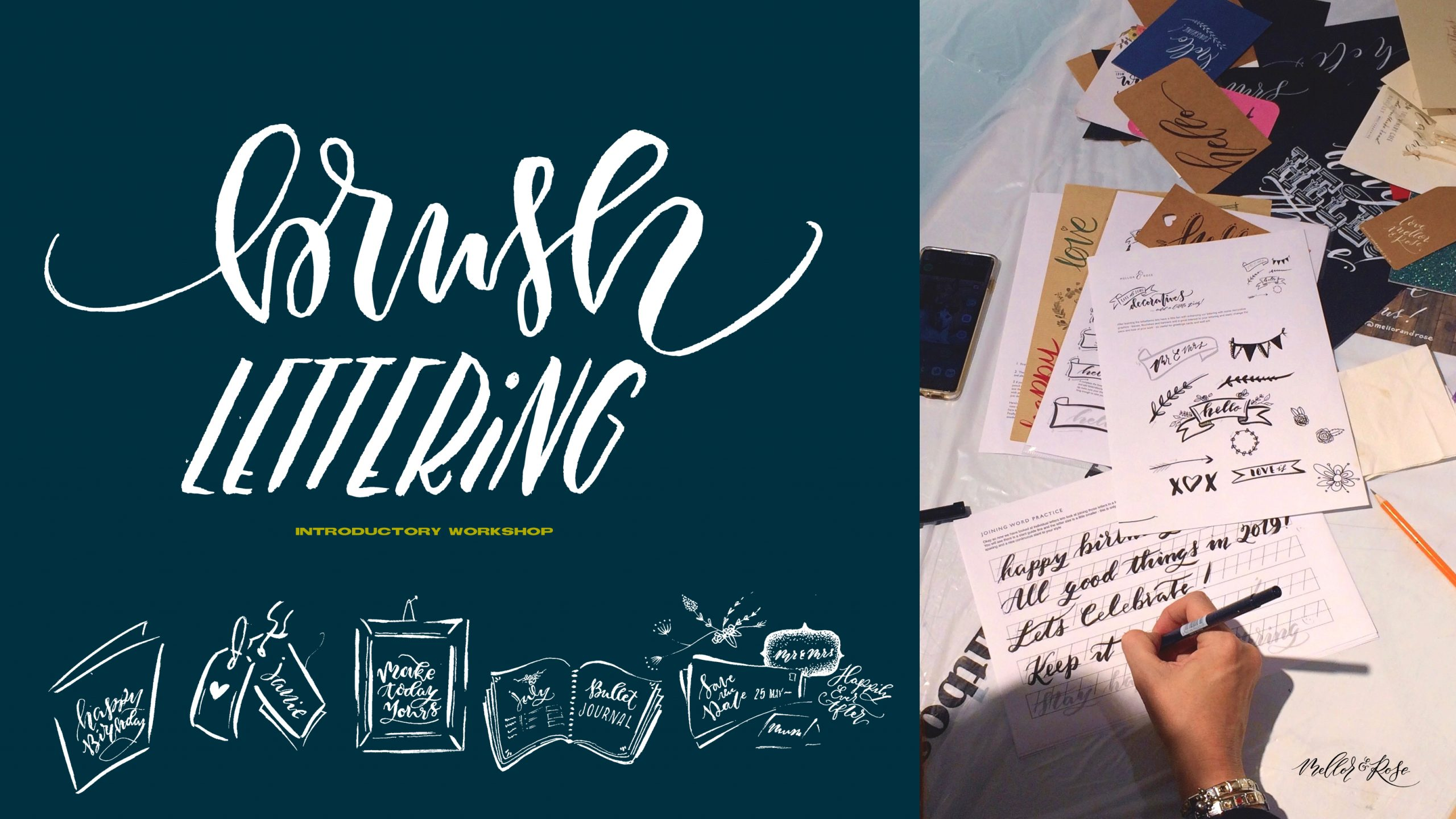 Introductory Brush Lettering workshop