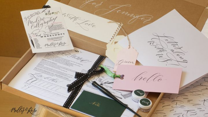 Calligraphy workshops with Mellor & Rose