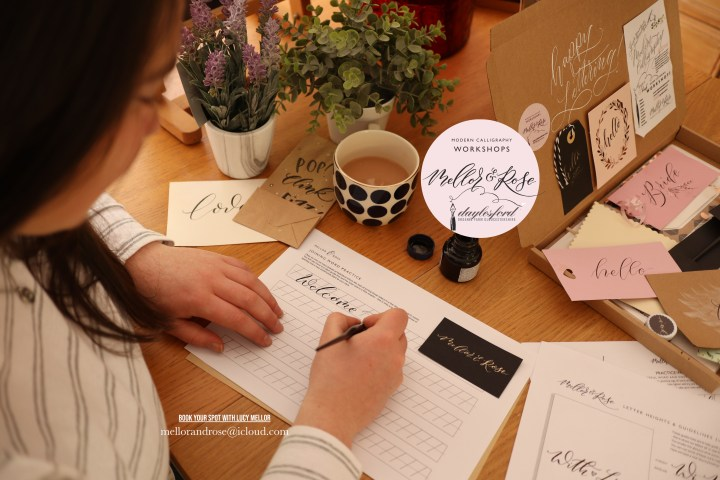 Modern Calligraphy Workshop at Daylesford with Mellor & Rose