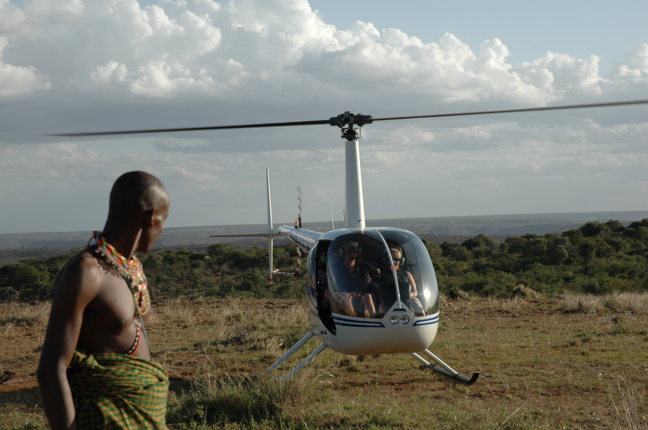 Helicopter - Kenya with Lewya foreground