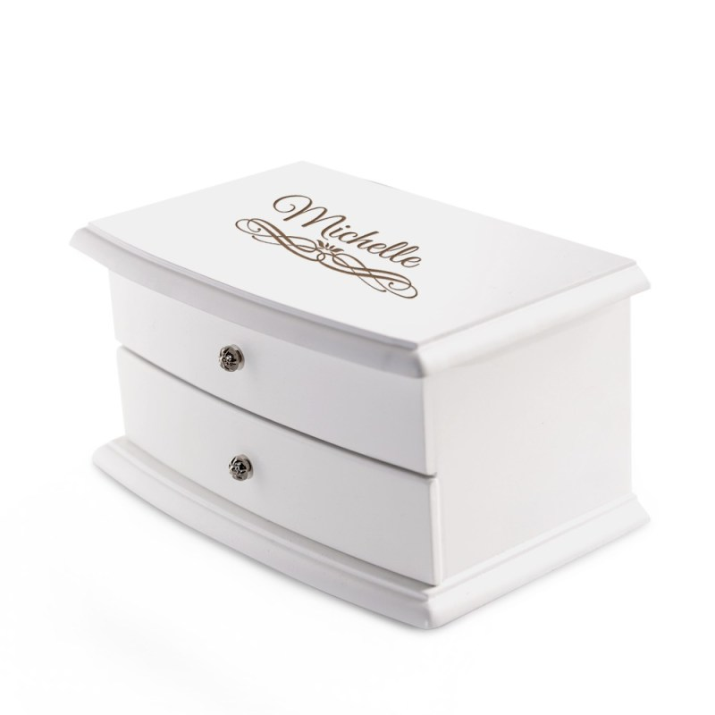 Irresistible Personalized 2 Compartment Jewelry Box Red Lining 12070 Li Personalized Jewelry Box Little Girl Personalized Jewelry Box Philippines