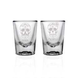 Best Couples 10705 Li Personalized Shot Glasses Birthday Personalized Shot Glasses No Minimum Order Personalized Sugar Skull Shot Glass Set