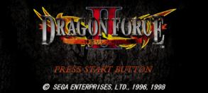 Dragon Force II tela titulo