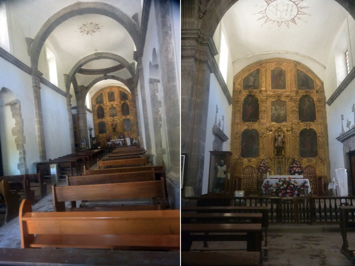 Two views of the Mission San Javier santuary