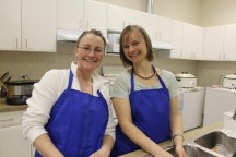 Members of the volunteer kitchen crew at River West Christian Church. Photo by Gladys Terichow