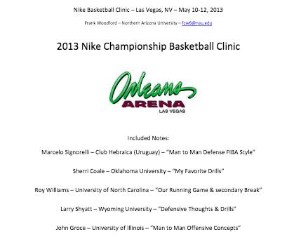 Basketball Coaching Clinic Notes | 2013 Nike Las Vegas Basketball Clinic