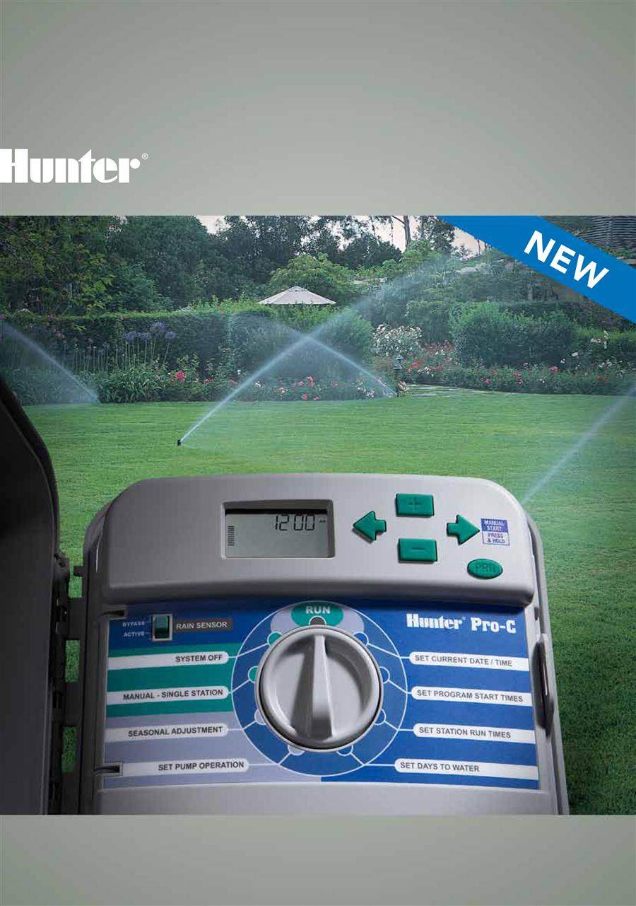Seemly Rotors Sprays Valves Controllers Sensors Central Controls Hunter Pro C Manual Delay Hunter Pro C Manual Run houzz 01 Hunter Pro C Manual