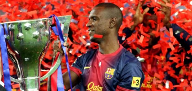 Barcelone fete le Tritre de Champion  / Eric Abidal