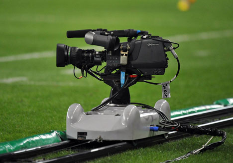 Illustration Camera tv - 25.03.2012 - PSG / Bordeaux - 29e journee de Ligue 1. Photo: Dave Winter / Icon Sport.