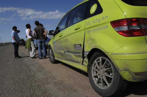 Mercedes-Benz B-Class F-Cell incidente