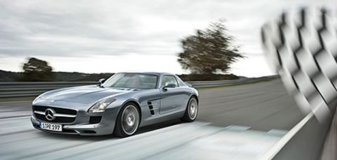 SLS Amg racing bandiera