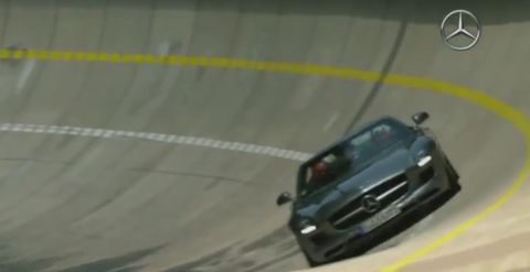 SLS AMG Roadster Mercedes-Benz Test Track
