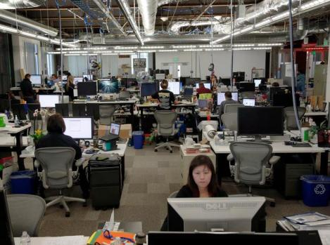 facebook employees work at their offices in menlo park calif wednesday morning pictures for an office