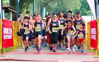Participants of Singapore's only humanitarian-themed run race in honour of disaster survivors worldwide
