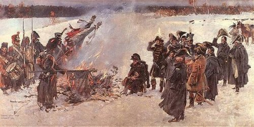 France's retreat from Russia, by W. Kossak.