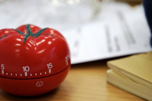 Photo of a tomato timer.