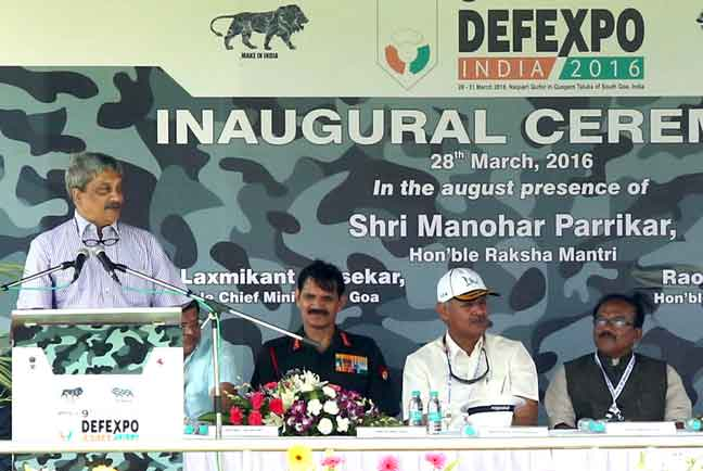 Defence Minister Manohar Parrikar unveiled the new defence policy.