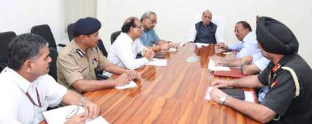 File Photo: Home Minister chaired a high level meeting on 18 September 2016 to take stock of the situation.